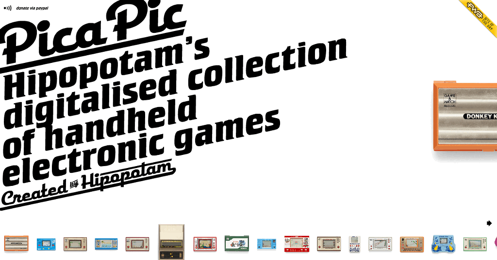 Game and Watch Emulator Website Picapic