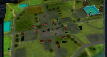 Überblick über ein von Gegnern besetztes Dorf.
