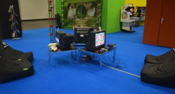 Zockerecke vom Haus der Computerspiele