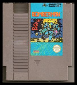 Bomberman NES Cartridge