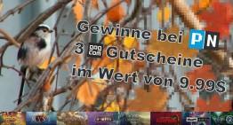 Drei 9,99$ Gutscheine im gog.com Gewinnspiel