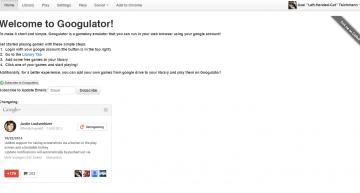 Startseite mit Changelog