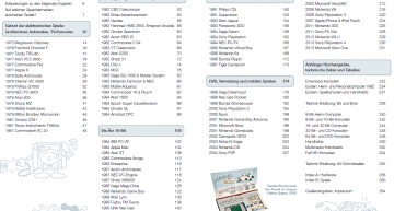 Nahezu alle Konsolen – Das Inhaltsverzeichnis