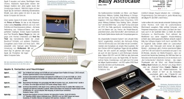Apple II und Bally Astrocade