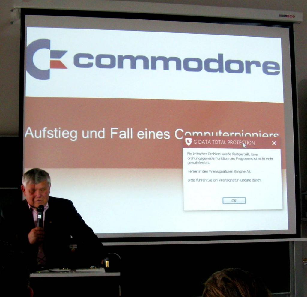 Commodore Amiga Präsident Petro Tyschtschenko in Leipzig zur LNDC