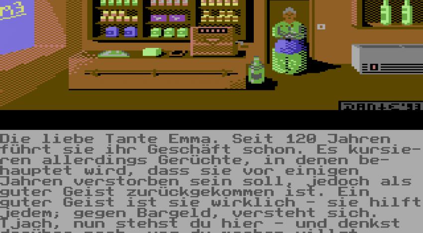 Im Spiel sollte man deshalb lieber in den Laden von Tante Emma abbiegen! Diese gute Seele hat alles was der nackte Ludwig braucht und schenkt uns Kleidung.