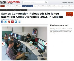 tomshardware Pixelnostalgie pur auf der games convention reloaded in Leipzig