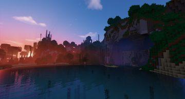Ein herrlicher Sonnenuntergang dank der neuen Minecraft Shader