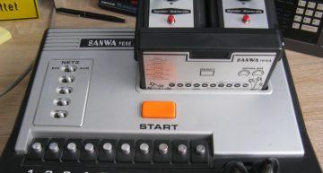 Batterie-/Netzbetriebener Pong-Clone der 2. Generation (auswechselbare Spielmodule) von Sanwa