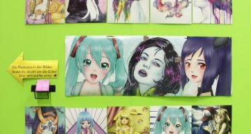 Ausgewählte Bilder der Zeichnerin.