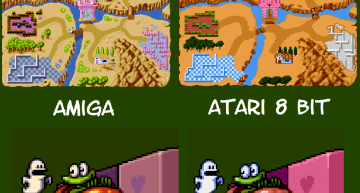 Vergleich zwischen AMIGA und ATARI Grafik.