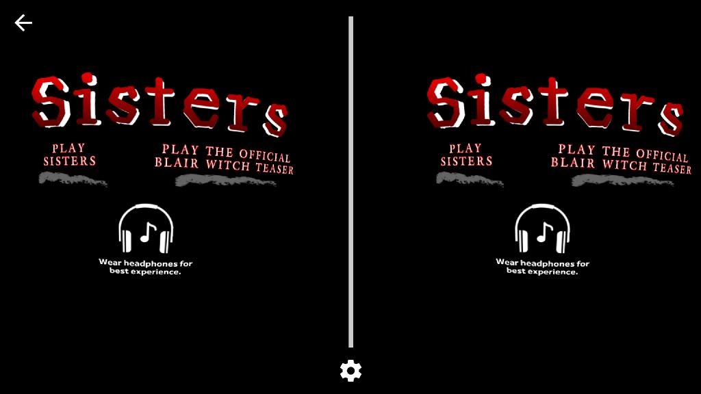 Sisters VR App Menü