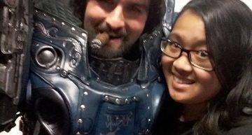 Selfie mit Gewinner Papa Cosplay :D
