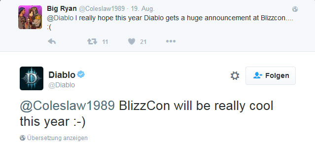 Diablo 2 HD Remake Hinweis