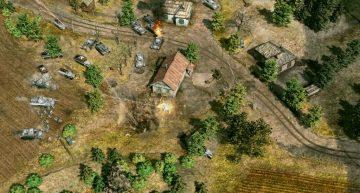 Schlacht im Dorf.