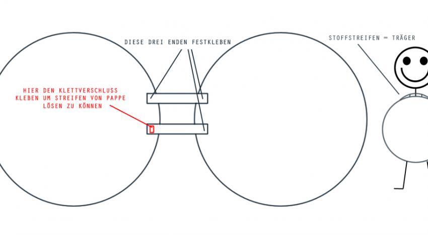 Skizze: Verschluss der Kartons