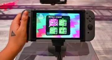 Splatoon im Handheld Modus der Switch