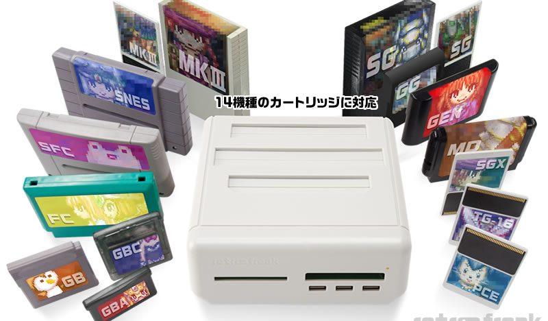 Die 15 unterstützten Systeme (NES fehlt auf diesem Bild)