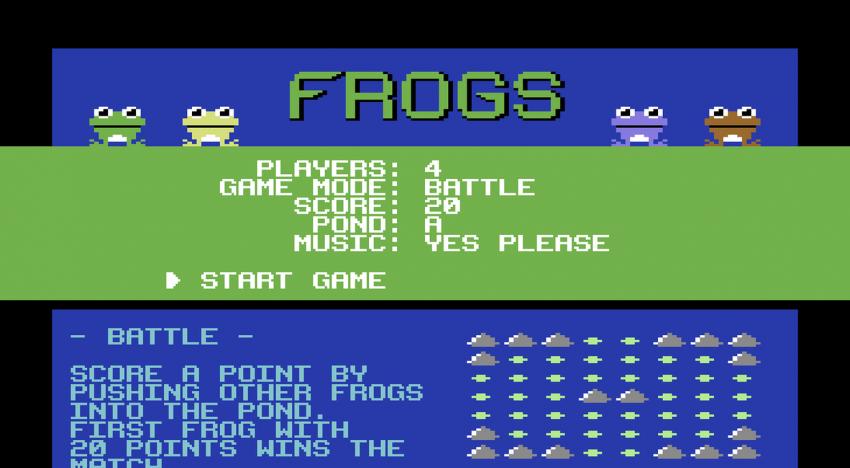 Zunge raus, Gaumenschmaus! – Das neue C64 Spiel Frogs im Review