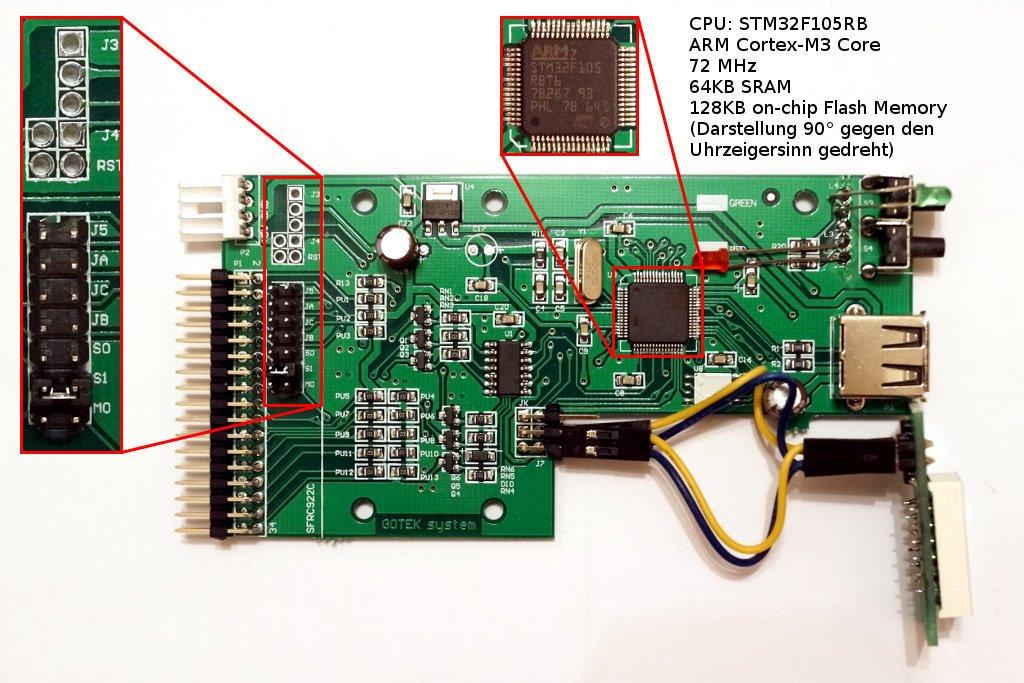 GOTEK SFR1M44U100-K Platine mit ARM Cortex-M3 CPU