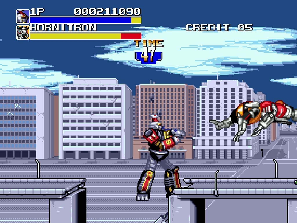 Mighty Morphin Power Rangers The Movie Genesis Screenshot (Quelle: Mobygames)