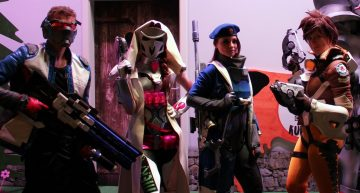 Soldier 76, D.Va im Reaper Outfit, Ana (Young) & Tracer aus Overwatch