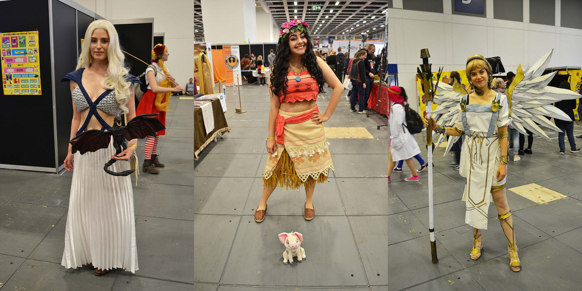 German Comic Con Berlin 2017 Cosplay: Deanerys (Game of Thrones), Moana/Vaiana, Mercy (Overwatch)