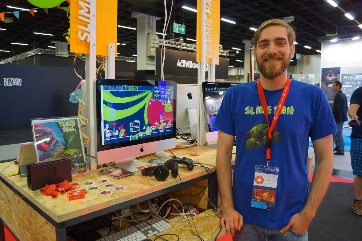 Slime-san Review Ben Miller gamescom presentation