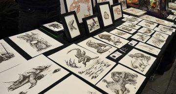 Fantastische Dinosaurier Zeichnungen