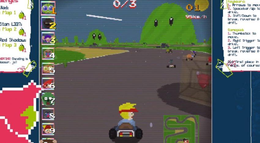 Super Slime Kart Arcade Minigame
