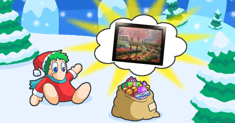 PN Adventskalender Hintergrundbild 13 Mario Kart Gemälde