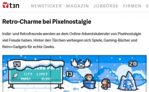 Pixelnostalgie nerdiger Adventskalender für Geeks in der Top Liste auf t3n
