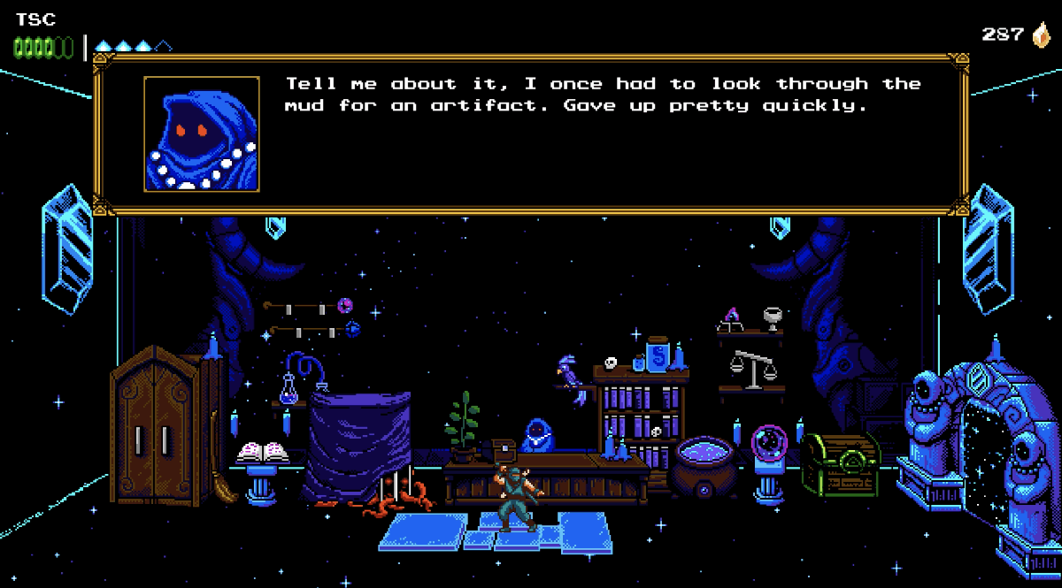 The Messenger Retro Indie Review Shopkeeper